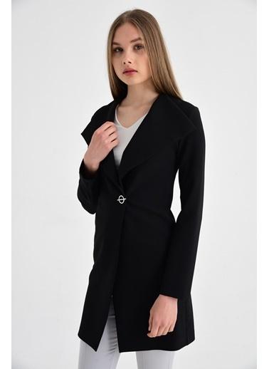 Jument Tek Düğme Ceket -Siyah Siyah